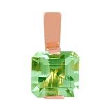 Золотой подвес Призма с зеленым аметистом