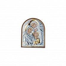 Серебряная икона Семья святых