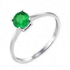 Серебряное кольцо с изумрудом 000131738