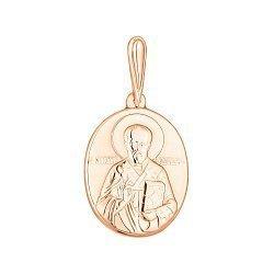 Ладанка из красного золота Николай Чудотворец 000141341