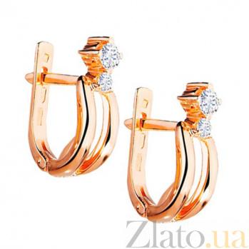 Золотые серьги с бриллиантами Келли KBL--С2119/крас/брил