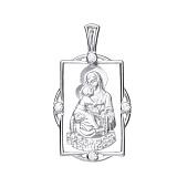Серебряная ладанка Владимирская Божья Матерь
