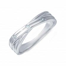 Серебряное кольцо с цирконием Гвендолайн