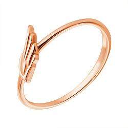 Золотое кольцо Крыло ангела в красном цвете