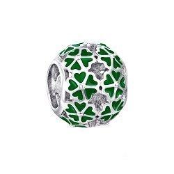 Серебряный шарм с зеленой эмалью 000116371
