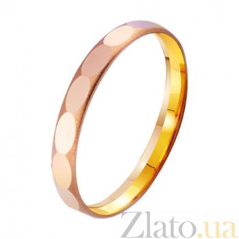 Золотое обручальное кольцо Искусство любви TRF--4111234