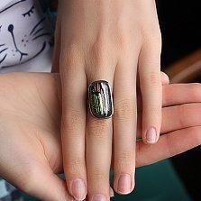 Серебряное кольцо с имитацией опала Коллаж