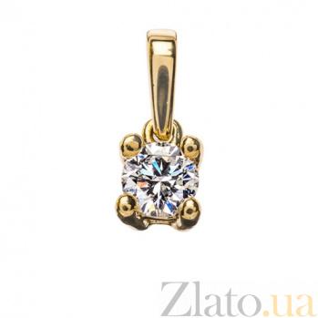 Золотая подвеска с бриллиантом Греза P0628
