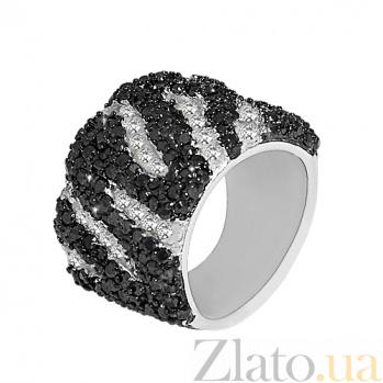 Серебряное кольцо с фианитами Ребекка 10000168