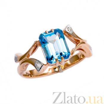 Золотое кольцо с топазом и бриллиантами Вайле ZMX--RT-6264_K