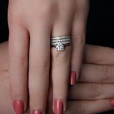 Серебряное кольцо Атриа с фианитами