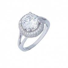Кольцо из серебра на помолвку Летиция