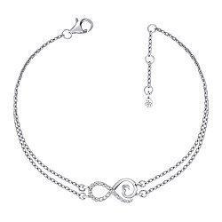 Многослойный браслет из белого золота с бриллиантами 000136070