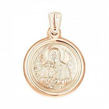 Ладанка из красного золота Святая Матрона 000141391
