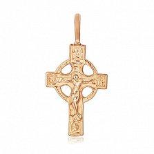Серебряный крестик Небесный Царь с позолотой