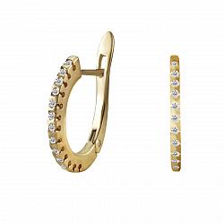 Серьги из желтого золота Клэр с бриллиантами