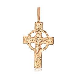 Серебряный крестик Небесный Царь с позолотой 000028625