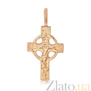 Серебряный крестик Вера в Иисуса 000028625