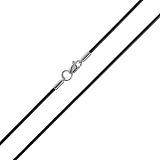 Каучуковый шнурок Ординал с серебряной застежкой, 2мм