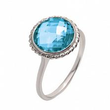 Серебряное кольцо с цирконием цвета топаз Горные ручьи