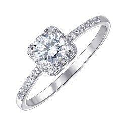 Серебряное кольцо с фианитами 000145382