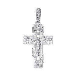 Серебряный православный крестик 000139233