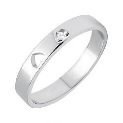 Серебряное фаланговое кольцо Джейн с сердечками и цирконием