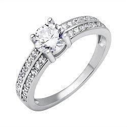 Серебряное кольцо с фианитами 000116337