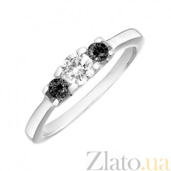 Кольцо в белом золоте Торина с бриллиантами 000079342