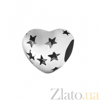Серебряный шарм Свет сердца 000028728
