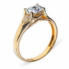 Золотое кольцо с бриллиантами Богиня