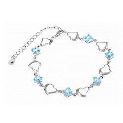 Серебряный браслет с голубым цирконием 000025879