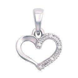 Золотой кулон в белом цвете с бриллиантами 000117251