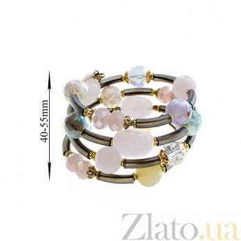 Спиральный браслет Мечты с кварцем и кристаллами Swarovski 000071373
