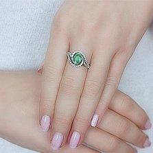 Серебряное кольцо с изумрудом Шантье