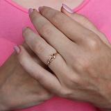 Золотое кольцо с фианитами Вилора