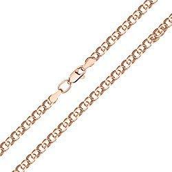Золотой браслет Арабка в красном цвете в плетении арабский бисмарк