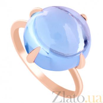 Золотое кольцо с голубым топазом Исидора VLN--112-1233-1