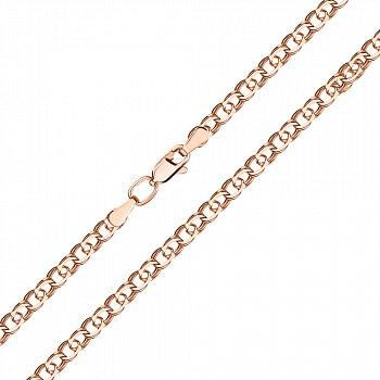 Золотой браслет Арабка  в плетении арабский бисмарк в красном цвете 000127254