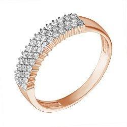 Кольцо из красного золота с фианитами 000023153