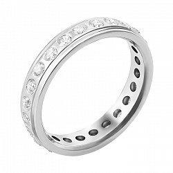 Обручальное кольцо из белого золота с бриллиантами 000119637