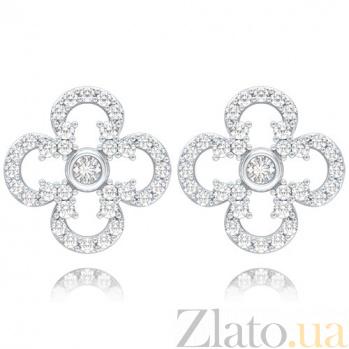 Серьги из белого золота с бриллиантами Долина грез: Праздник Жизни 4663