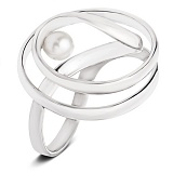 Серебряное кольцо с жемчугом Ариадна