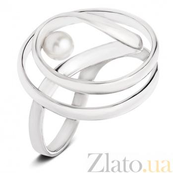 Серебряное кольцо с жемчугом Ариадна С4-Ж