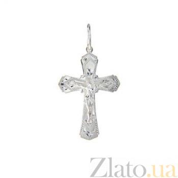 Крестик серебряный  AQA--3553б