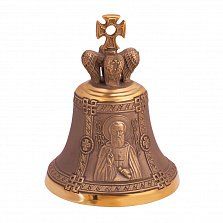 Бронзовый именной колокольчик Св. Сергий