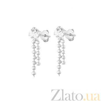 Сережки из серебра Ручей SLX--С1СТ/618