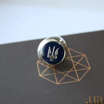 Серебряный знак с эмалью Трезубец VLA--59565