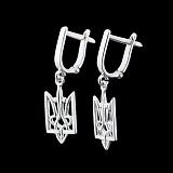 Серебряные серьги Наш герб