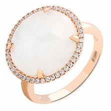 Золотое кольцо с дуплетом из горного хрусталя и жемчуга Эсмеральда